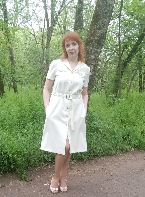 Платье-рубашка «Ванильное мороженое»