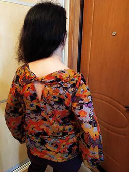 Работа с названием Компанующаяся блузка