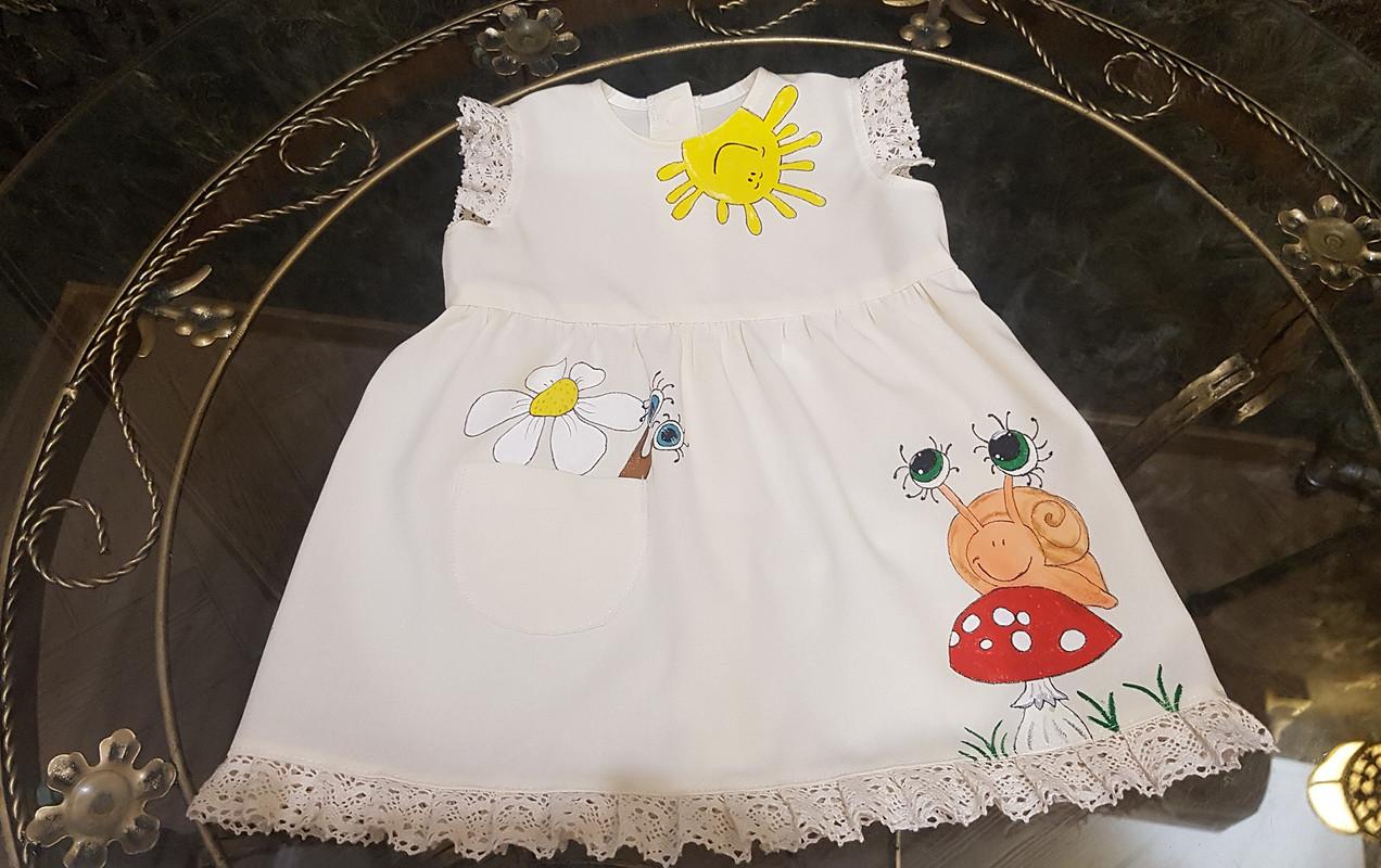 Платье «Вот илето пришло...» сручной росписью