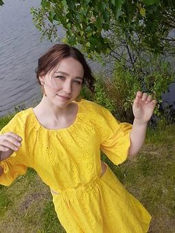 Работа с названием Платье по мотивам AJE Mimosa dress