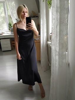 Работа с названием Платье-комбинация