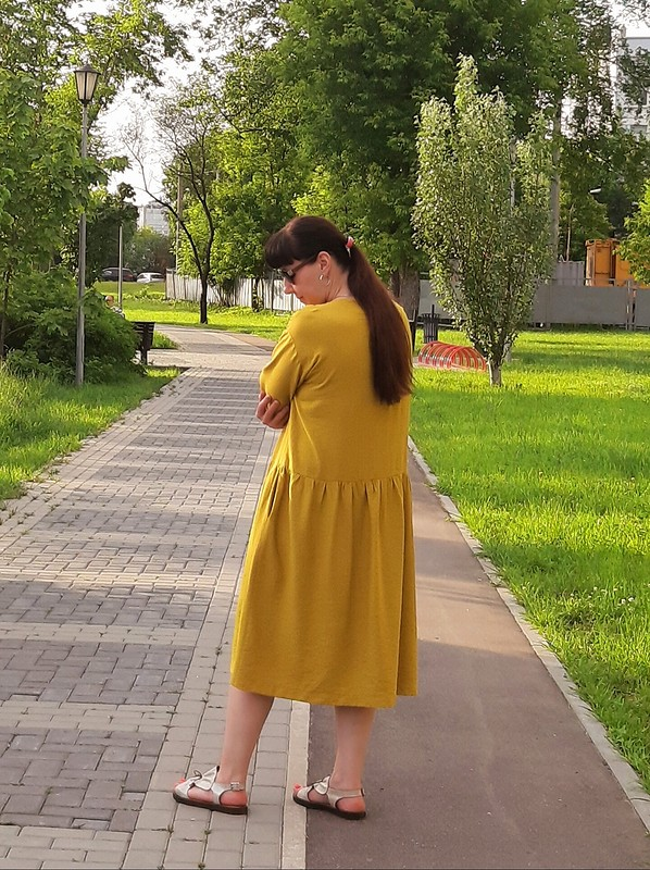 Горчичное платье от katerina112