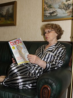 Работа с названием Шёлковая пижама