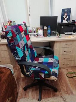Работа с названием Плед и чехол на кресло из трикотажа