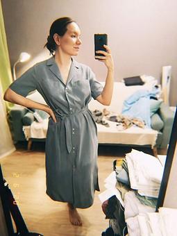 Работа с названием Спонтанное платье за пару дней