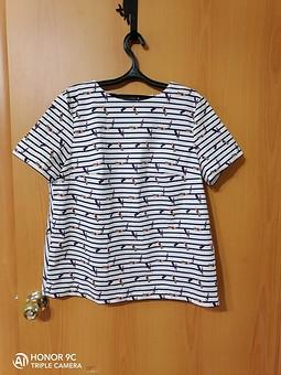 Работа с названием Четвёртая блузка-топ по этой выкройке