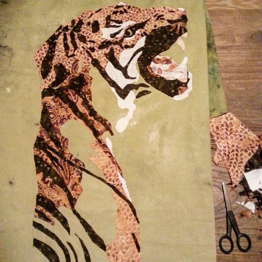 Текстильные картины изткани, тюля иниток: рукодельный instagram недели