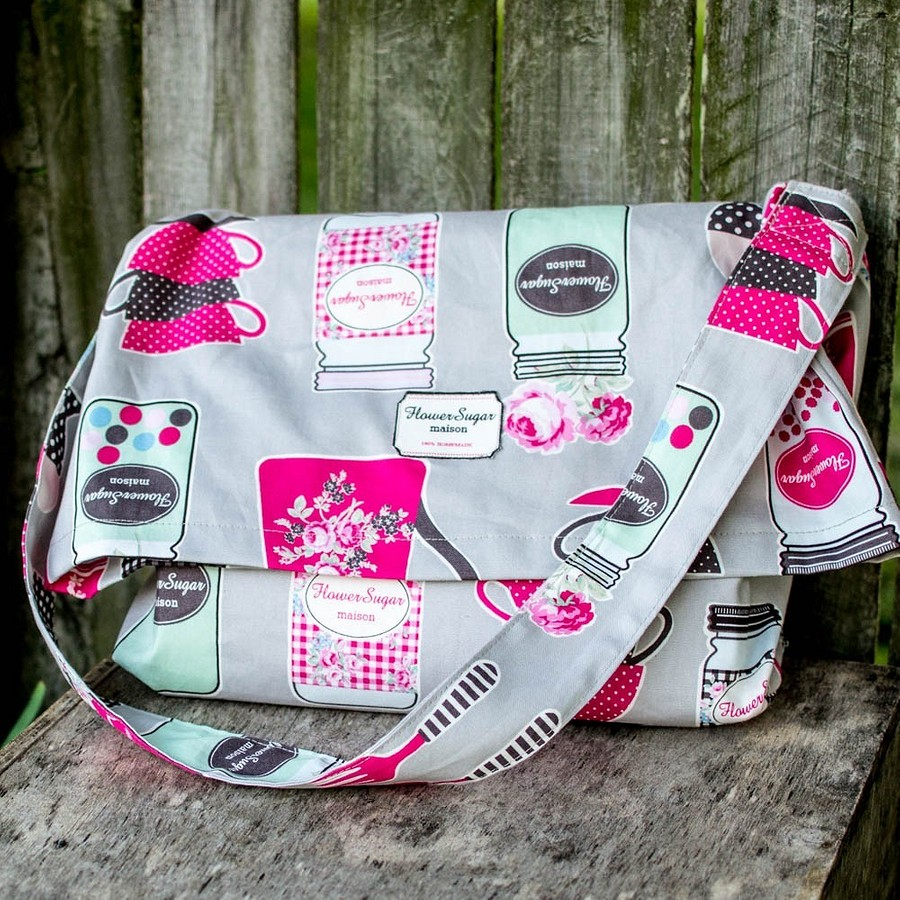 Простая летняя сумка-мессенджер: мастер-класс