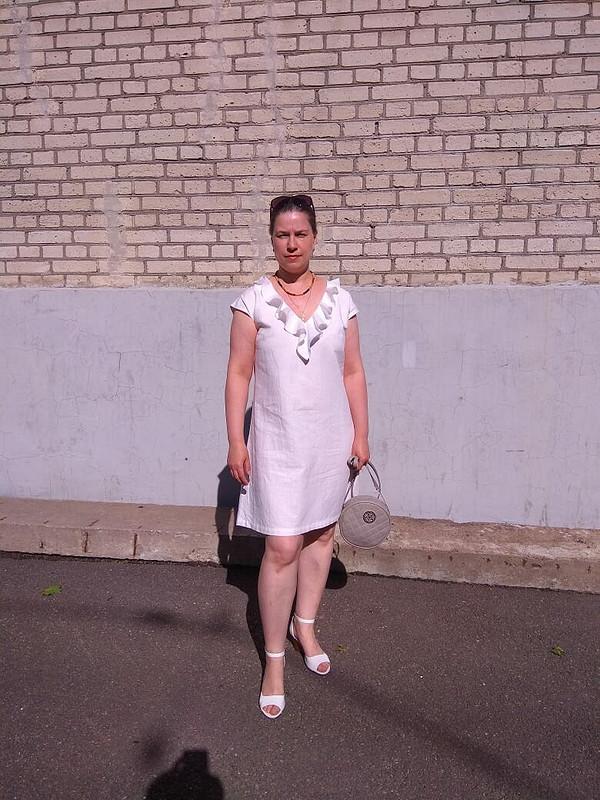 Платье А-силуэта «Льняная романтика»