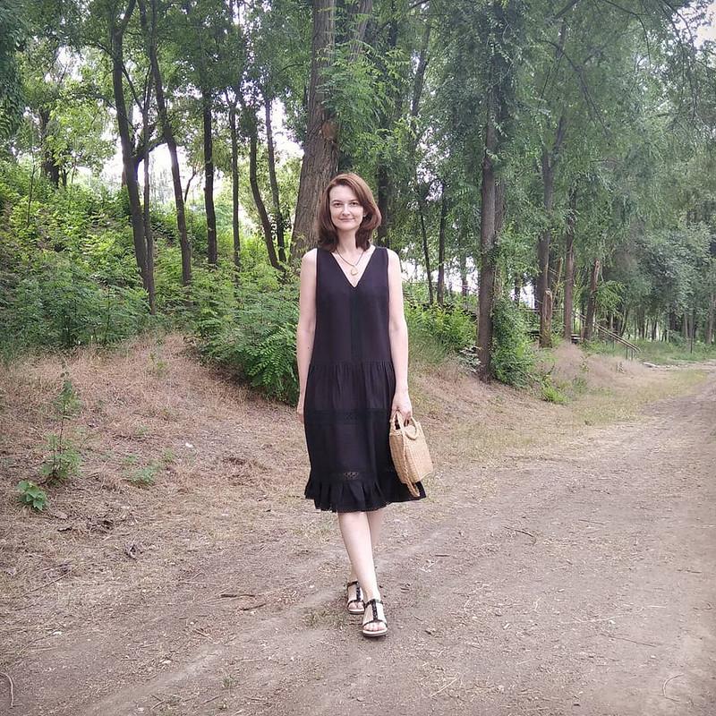 Льняной бохо-сарафан