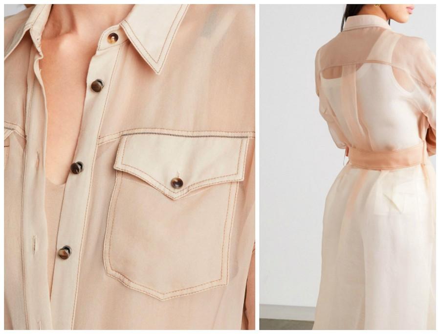 Вещь дня: платье-рубашка изшифона отBrunello Cucinelli