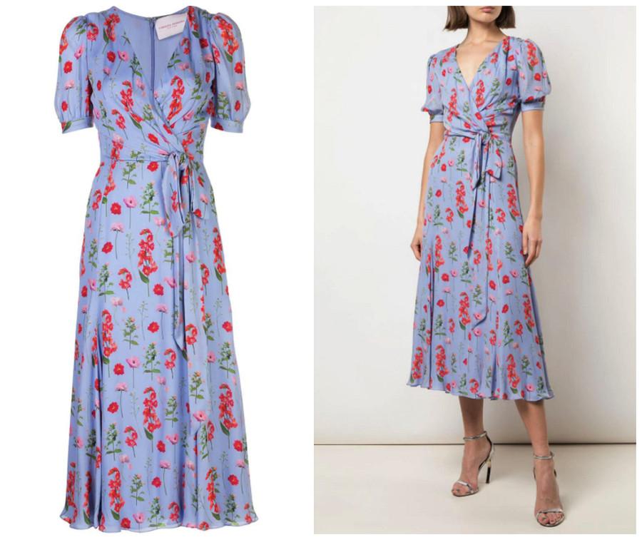 Вещь дня: цветочное платье отCarolina Herrera