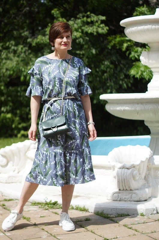 Платье «Любимые ландыши» от OLGA_POLU