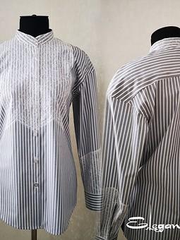 Работа с названием Рубашка  с кружевом
