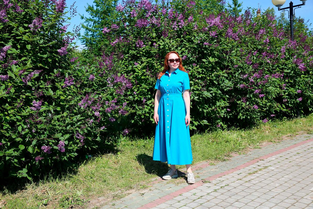 Бирюзовое платье от Sultleysan