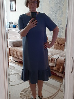 Работа с названием Свободное платье