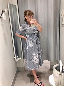 Работа с названием Платье рубашечного кроя №17 Burda. Extra 5/2020