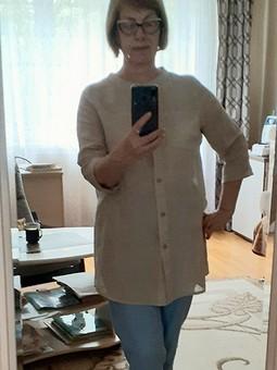 Работа с названием Рубашка из тонкого льна