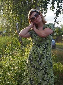 Работа с названием Платье экологическое)