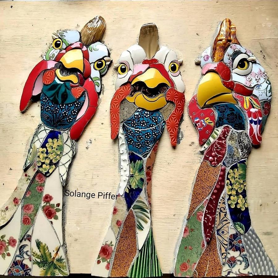Яркие трёхмерные мозаики отмастерицы изБразилии: рукодельный instagram недели