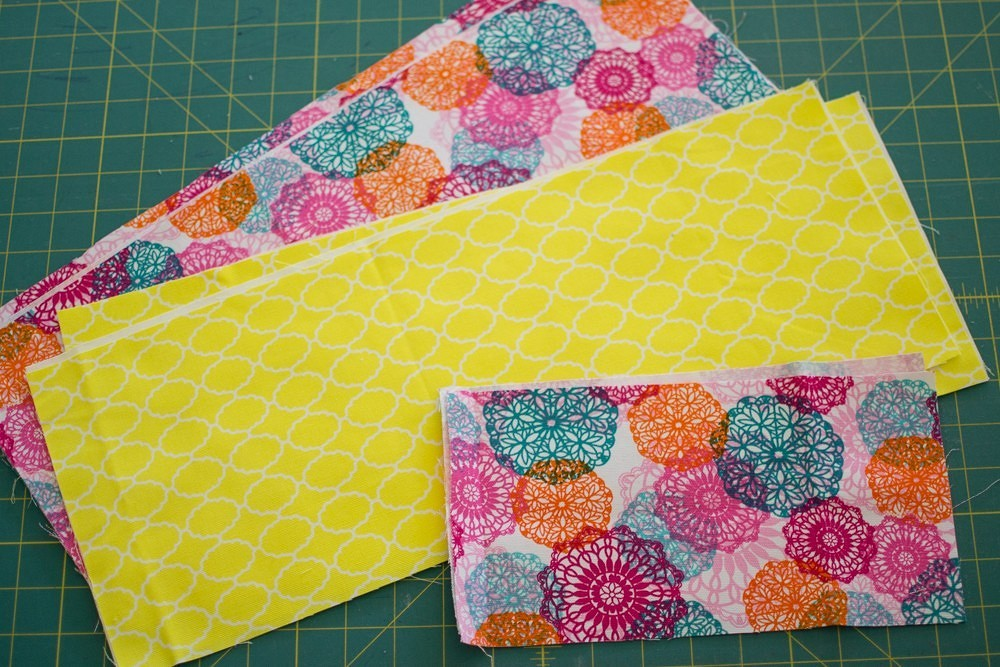 Летняя двухцветная сумка-тоут сверёвочными ручками: мастер-класс