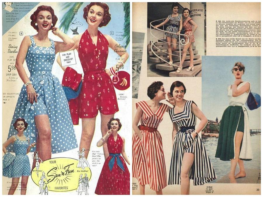Пляжный хит из50-х: комбинезон + юбка