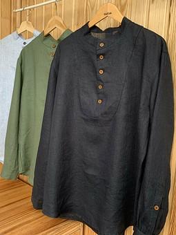 Работа с названием Льняной фэмили-лук: мужские рубашки