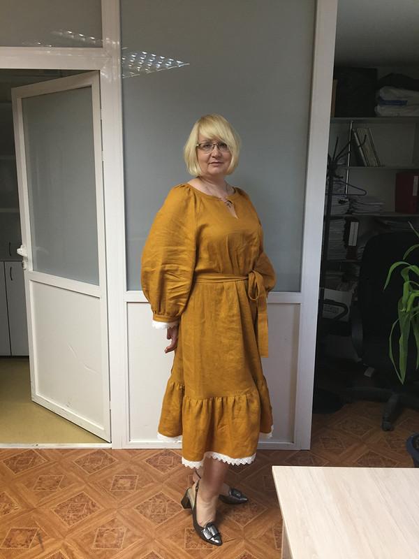 Платье - лён - горчица от irina-sh69