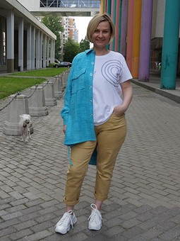Работа с названием Рубашка в мужском стиле