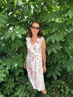 Работа с названием Платье с запахом, для жаркого лета