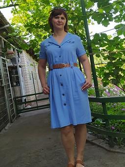 Работа с названием Платье-рубашка изо льна