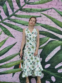 Работа с названием Платье из Бурда экстра:
