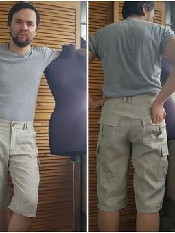 Работа с названием Снова мужские шорты. Лён