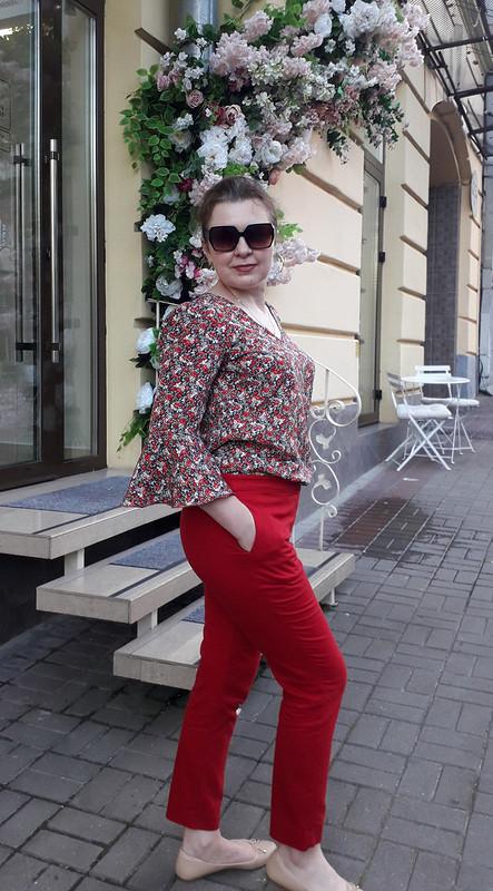 Блузка срасклешенными рукавами от eshcherba