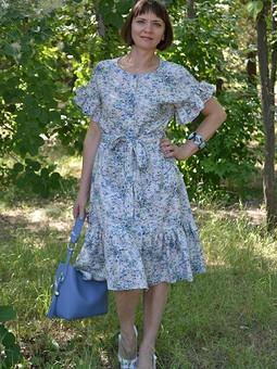 Работа с названием С днем семьи! Оборчатое платье