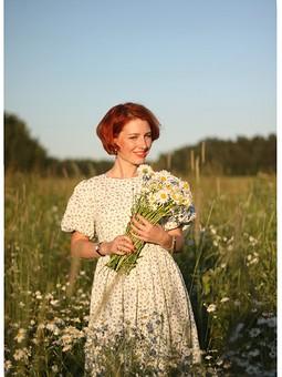 Работа с названием С днем семьи, любви и верности! Платье в василек