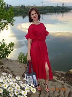 Работа с названием С днем семьи, любви и верности! Красное платье