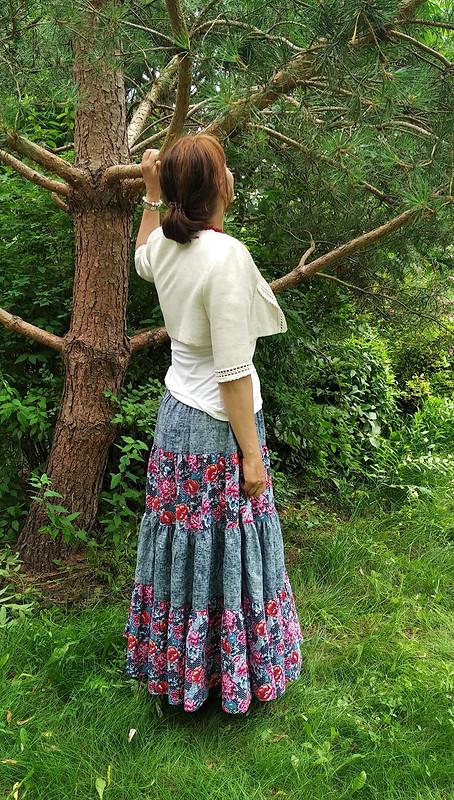 С Днём любви, семьи иверности! Ярусная юбка от ЮИсаева