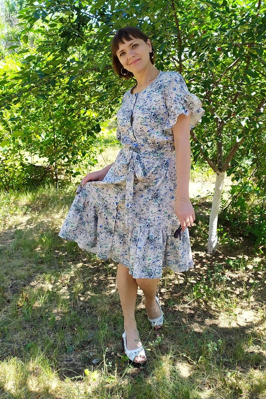 С днем семьи! Оборчатое платье от tatyana_BLO
