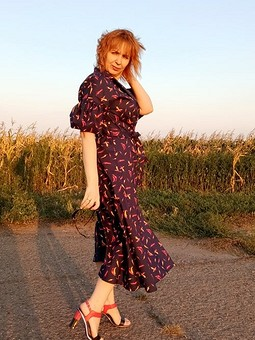 Работа с названием Платье-рубашка с перчиками