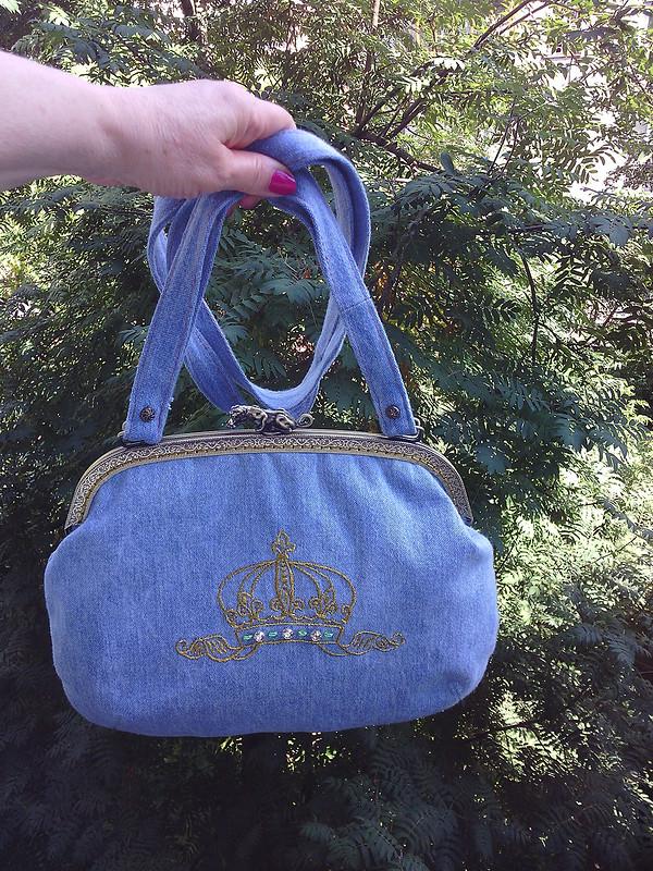 Джинсовая сумочка сфермуаром от Жанна_28