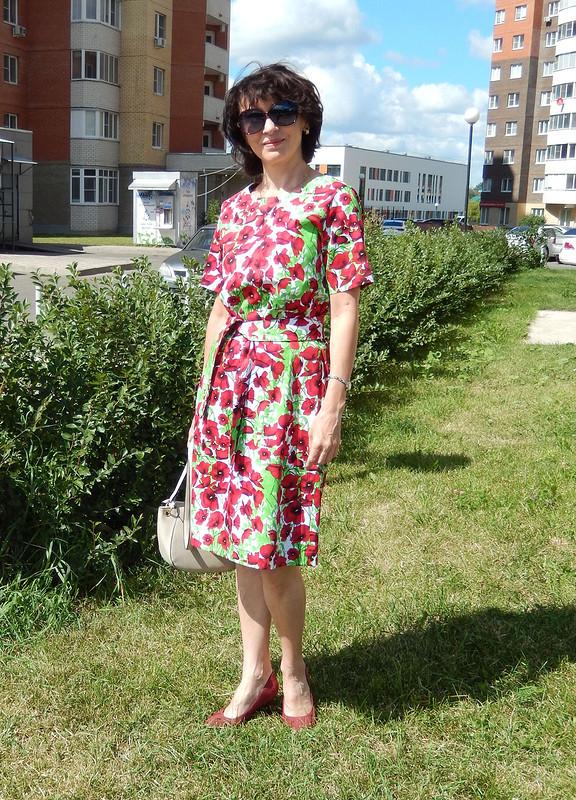 Платье смаками вгородском пейзаже от julia.golubkova
