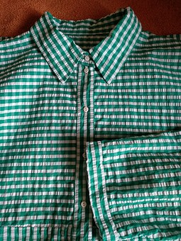 Работа с названием Рубашка из сирсакера