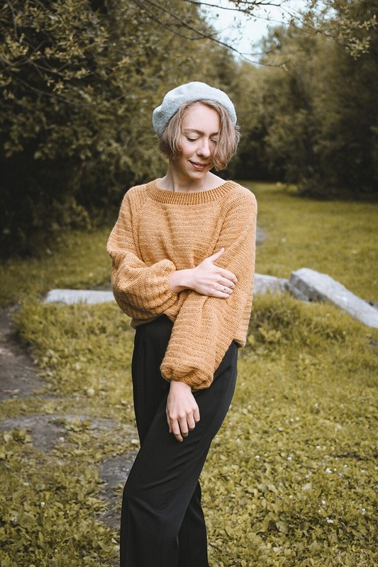 Простой свитер крючком от Svetlana_sv
