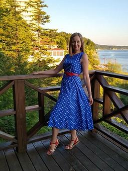 Работа с названием Женственное летнее платье