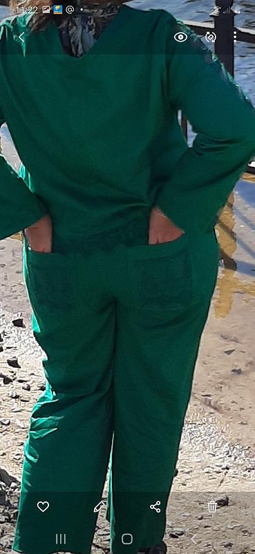 Изумрудный костюмчик: жакет ибрюки
