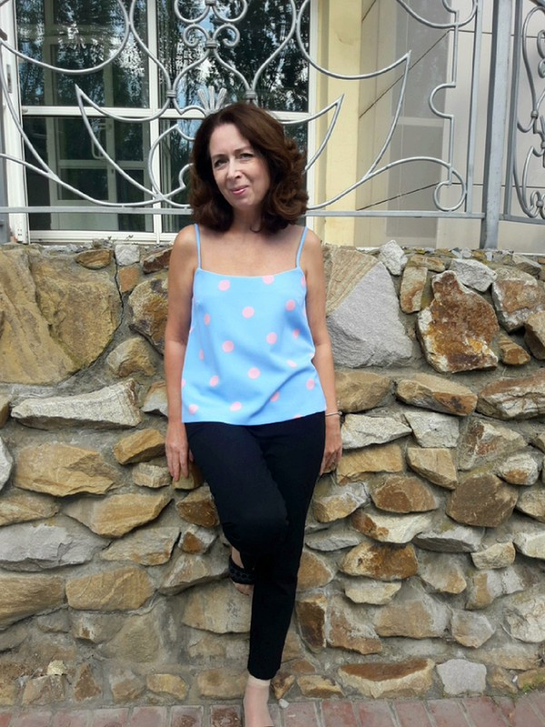 Топ натонких бретельках от Похващева Ирина