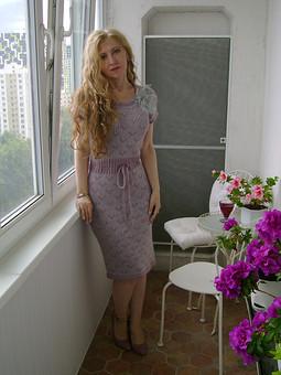 Работа с названием Вязаное платье из VOGUE
