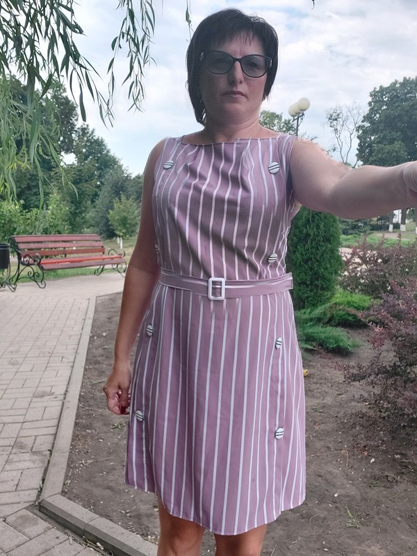 Летнее платье вполоску