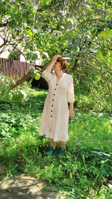 Белое платье от Zulfiya72